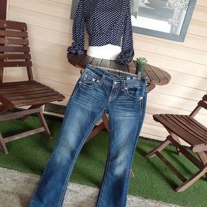 Miss Me Boot Jean's Embellished with Gems Size 26